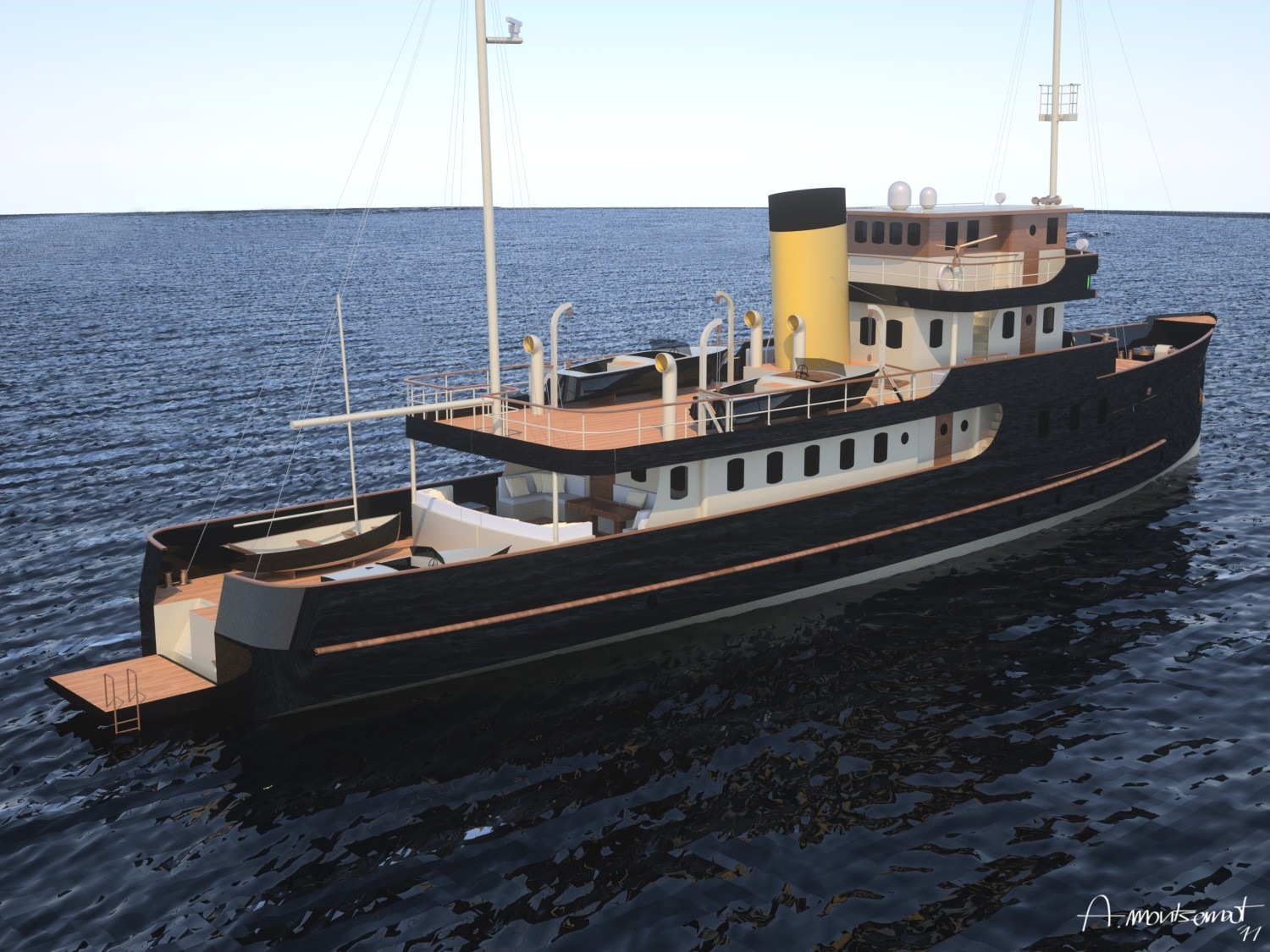 36m classic gentleman 39 s motor yacht mylne pf36 by a mylne for Vintage motor yachts for sale