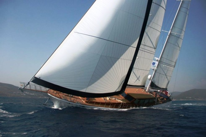 43m sailing yacht CLEAR EYES by Pax Navi to circumnavigate globe - Photo ...