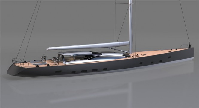 46m Sailing Yacht 378 by Vitters and Dubois Naval Architects