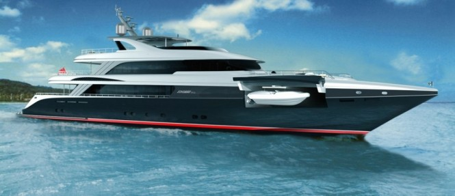 50m Jongert 500 LE motor yacht by Azure Naval Architects and Guido de Groot