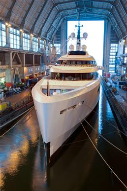 96m Motor yacht VAVA II (ex P55) Christened by Devonport Yachts