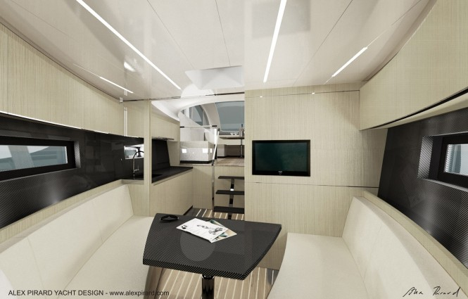 Alex Pirard Yacht Design - Oronero yacht interior