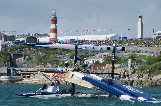 America's Cup AC World Series Plymouth – Day 2 an epic day of racing  © ACEA (2011) Photo R. Pinto