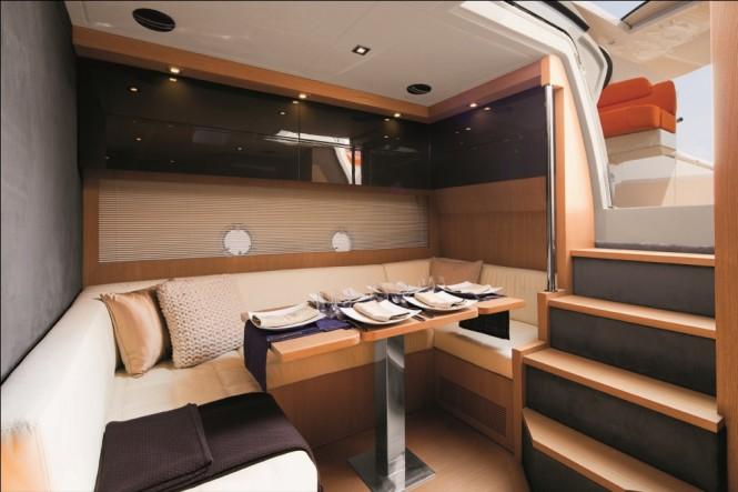 Atlantis 48 motor yacht dinette - Credit Azimut Yachts