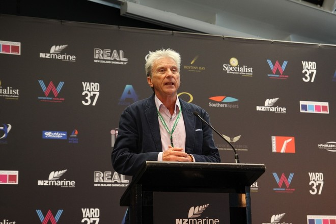Barry Jenkins Chairman of SYBA addresses delegates at the inaugural Superyacht Captains Forum - Photo Credit NZ Marine