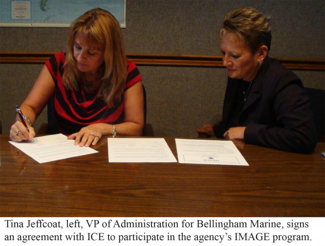 Bellingham Marine signs agreement with U.S. Immigration and Customs Enforcement (ICE)