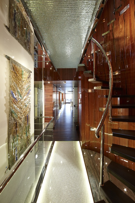 Art Line Yacht Interior Design : E yacht staircase interior by art line — charter