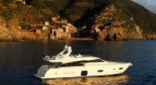 Ferretti 720 Yacht presented at the 2011 Cannes International Boat and Yacht Show