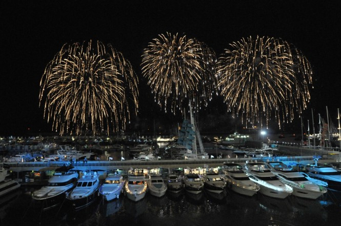 Fireworks at the Genoa International Boat Show