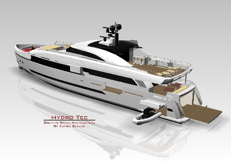 Innovative yacht concept Columbus 125 Hybrid by Sergio Cutolo of Hydro Tec
