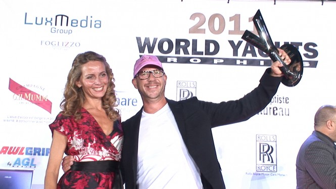 Kirk Lazarus & Motor Yacht TOLD u SO win for BEST INTERIOR DESIGN at the 2011 World Yacht Trophies in Cannes