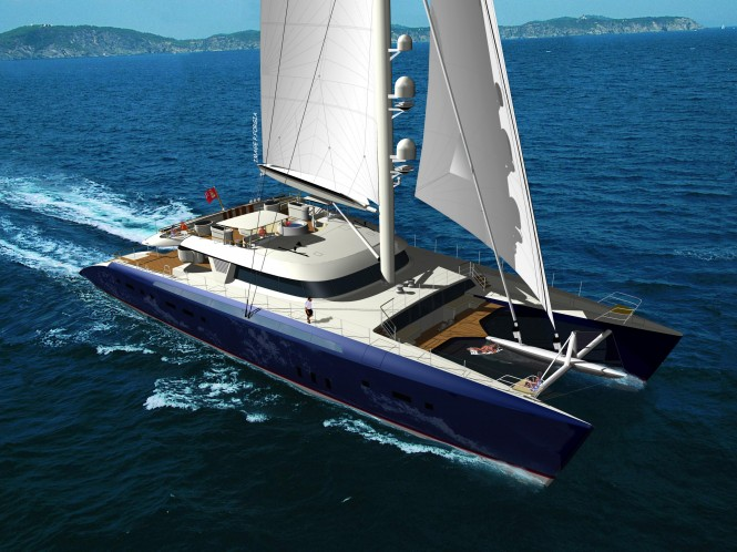 Luxury catamaran HEMISPHERE was launched this year by Pendennis and will be on show at this year's Monaco Yacht Show.