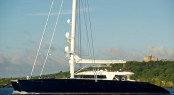 Luxury superyacht catamaran Hemisphere  - Courtesy of Pendennis Shipyard
