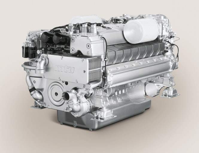 MTU 16V 2000 M94 yacht engine with a power output up to 1940 kW