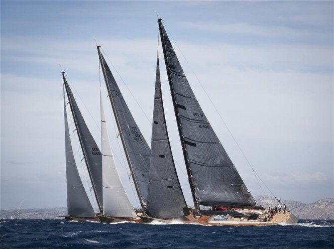 Maxi fleet action on Day 2 - Photo Credit  Rolex - Carlo Borlenghi