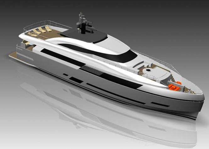 New Columbus 125' Hybrid motor yacht by Palumbo Shipyard sold to Russian Buyer