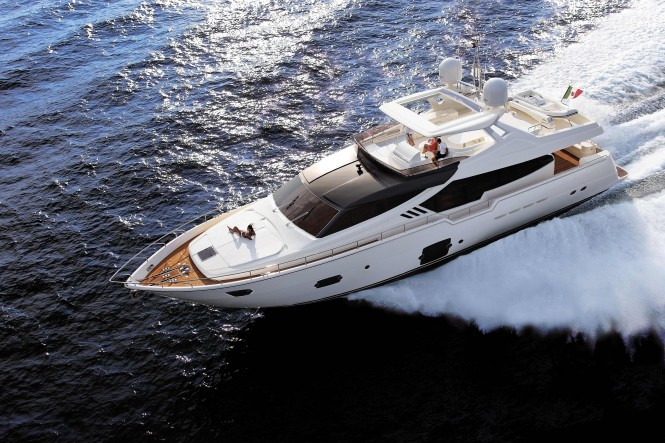 New Ferretti 870 motor yacht - Credit Ferretti Group