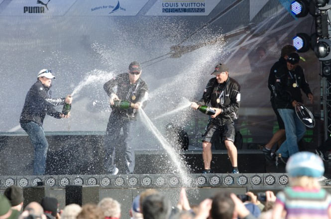 ORACLE Racing Spithill win AC Plymouth Fleet Racing Championship © 2011 ACEARicardo Pinto