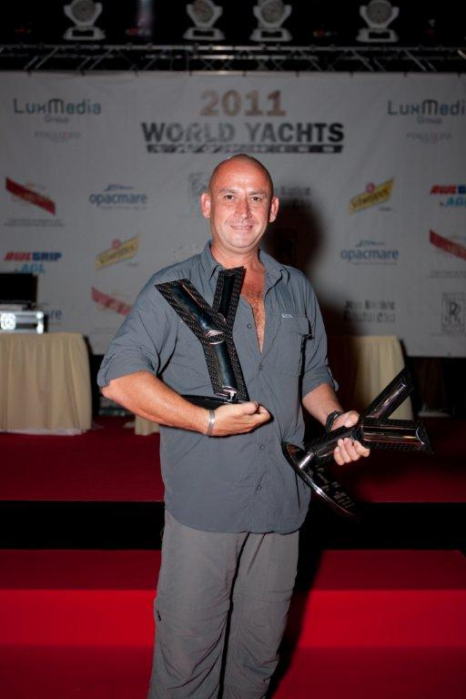 Selcuk Kocak, designer of the Peri 41T and head of Scaro Design received the awards on behalf of Peri Yachts