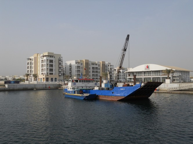 Pre drilling through the rock has been completed at Almouj Marina and the team is now ready to start the pile installation-l