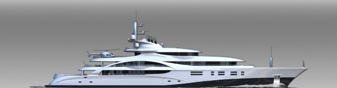 Profile of the 88m MCA Motor Yacht ICE Concept by Blohm + Voss and Michael Leach Design