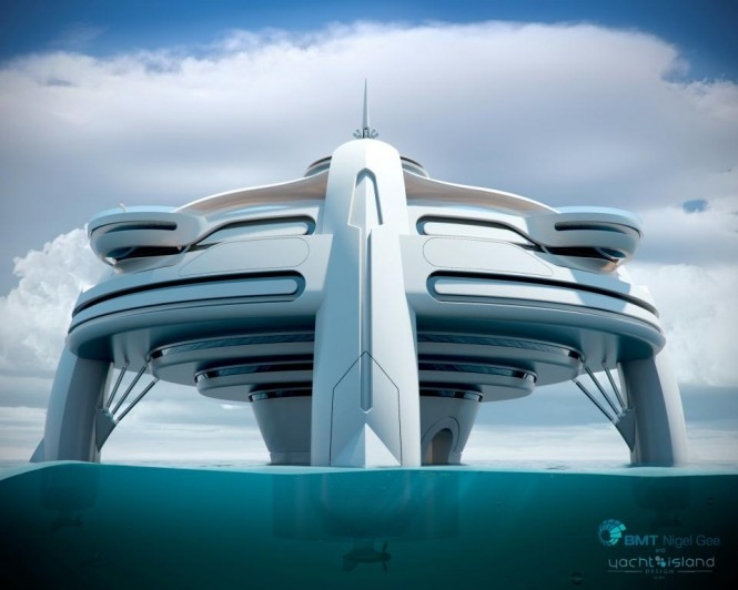 Superyacht Project Utopia by BMT Nigel Gee and Yacht Island Design 