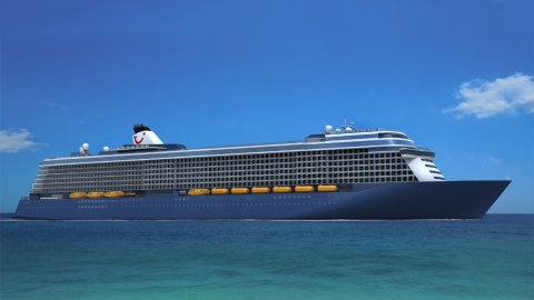 STX Finland and TUI Cruises sign a contract for a 295m luxury Cruise Ship  - An artist's impression of the new cruise liner. Image STX