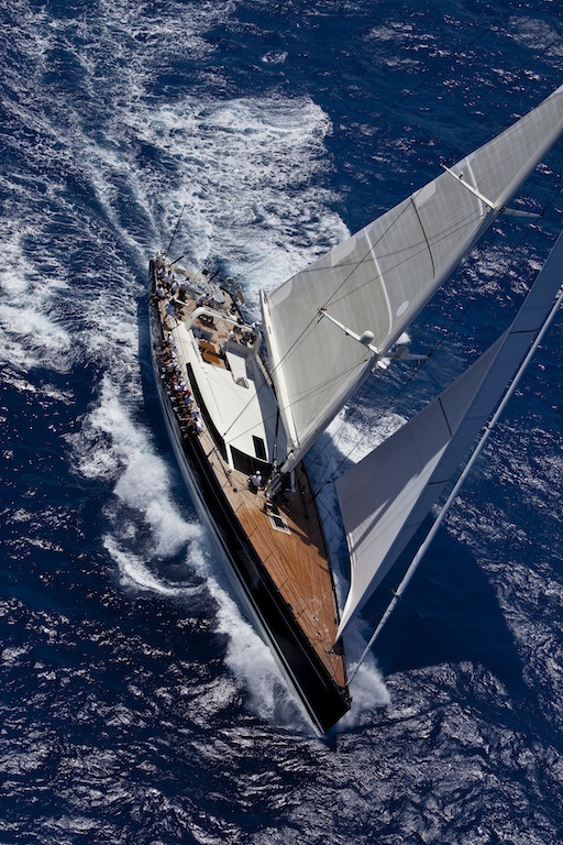 Sailing Yacht P2 of 38 metres at the Saint Barths Bucket Super Yacht Regatta