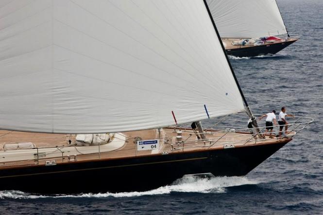 Sailing yacht Heritage. Perini Navi Cup 2011. Photo Credit Carlo Borlenghi