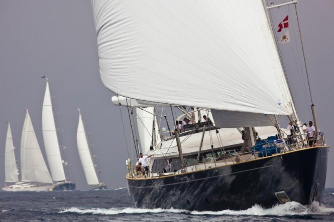 Sailing yacht Parsifal III at the Perini Navi Cup 2011 - Photo Credit Carlo Borlenghi