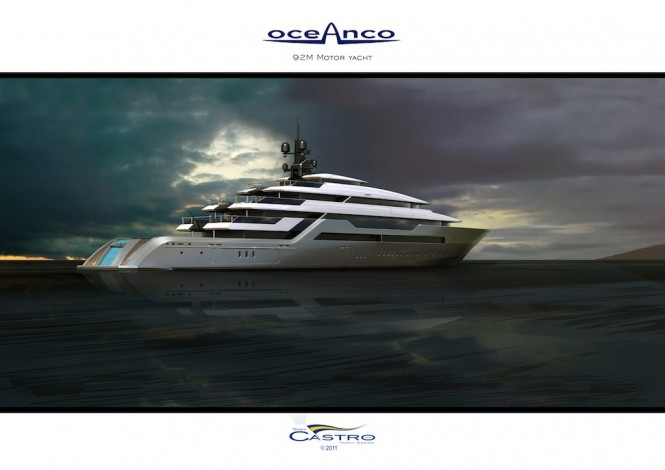 Scene view of the 92M Oceanco PA153 Yacht designed by Tony Castro