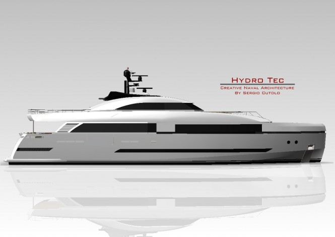 Sergio Cutolo designed motor yacht Columbus 125 Hybrid to be constructed at Palumbo Shipyard