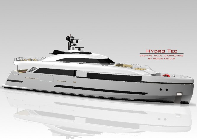 Sergio Cutolo's state-of-the-art superyacht Columbus 125 Hybrid with reduced environmental impact