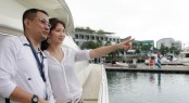 Couple enjoying the Singapore Yacht Show