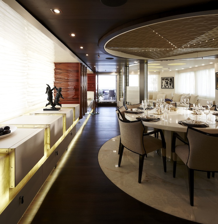 Art Line Yacht Interior Design : Superyacht e dining area credit art line — yacht