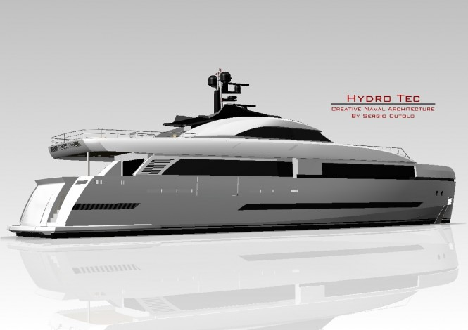 Superyacht Columbus 125 Hybrid by Sergio Cutolo of Hydro Tec to be built by Palumbo Shipyard