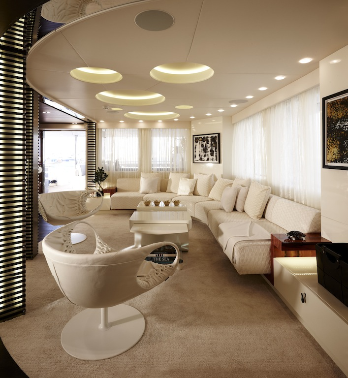 Art Line Yacht Interior Design : Superyacht e main salon — yacht charter news