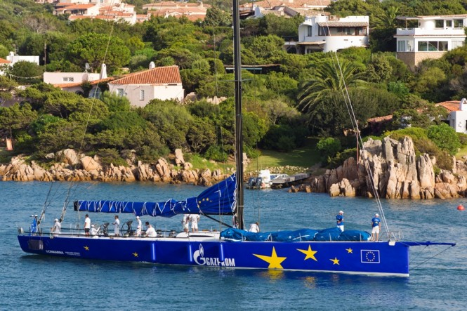 The 100-ft sailing yacht Esimit Europa 2 (SLO) is strong favourite to defend the Maxi crown - Photo Credit Esimit Europa 2