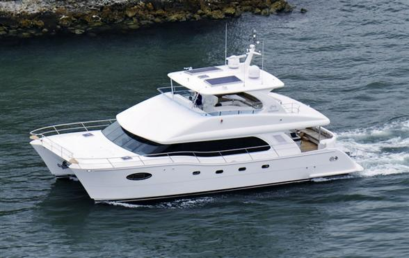 The First Horizon Pc58 Launched A 58ft Power Catamaran