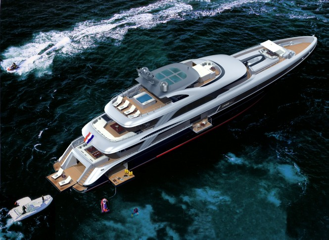 The Jongert 500 LE motor yacht by Guido de Groot Design