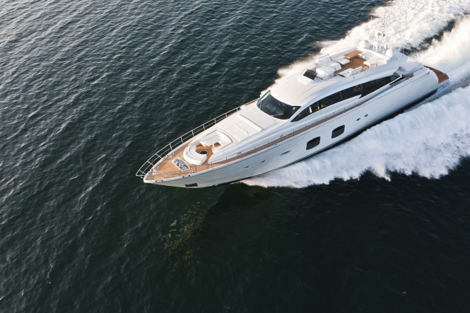 The elegant and fast Pershing 108 Motor Yacht