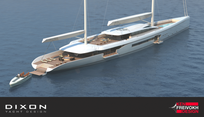 The new sailing yacht MANTIS 80 by Dixon Yacht Design in collaboration with Ken Freivokh Design - Mantis 80 yacht moored