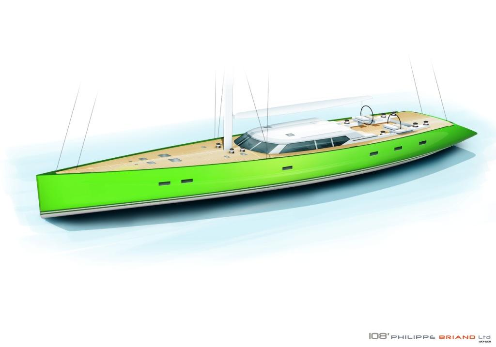 This spectacular performance sloop 'INOUI' is currently being constructed at ...