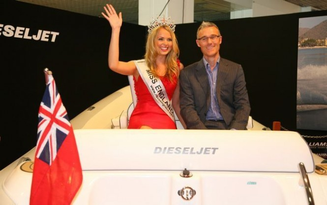 Williams Performance Tenders and Miss England launch new Dieseljet 565 superyacht tender in Cannes