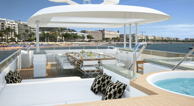 Yacht Quaranta Top-Deck