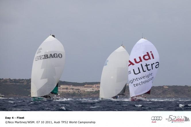 Sailing yacht fleet 07 10 2011, Audi TP52 World Championship © Nico MartinezWSM