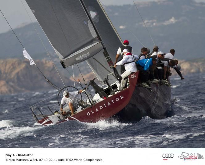 Yacht Gladiator 07 10 2011, Audi TP52 World Championship © Nico MartinezWSM