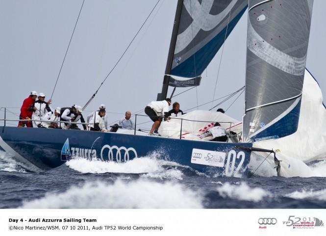Sailing yacht Azzura, Audi TP52 World Championship © Nico Martinez WSM