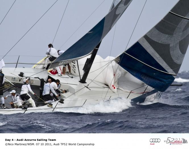 Sailing yacht Azzura, 07 10 2011, Audi TP52 World Championship © Nico Martinez WSM