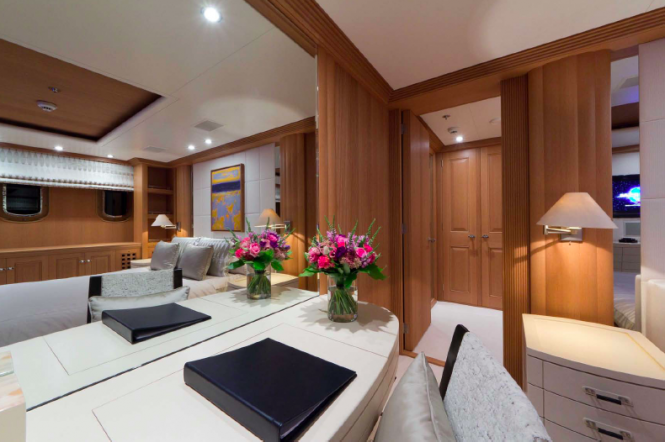 Guest suite - Troyanda Yacht by Feadship - Photographer: Marc Paris